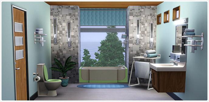 Jaren \'50 Moderne Badkamer Collectie | Sims3 xD || Sims News