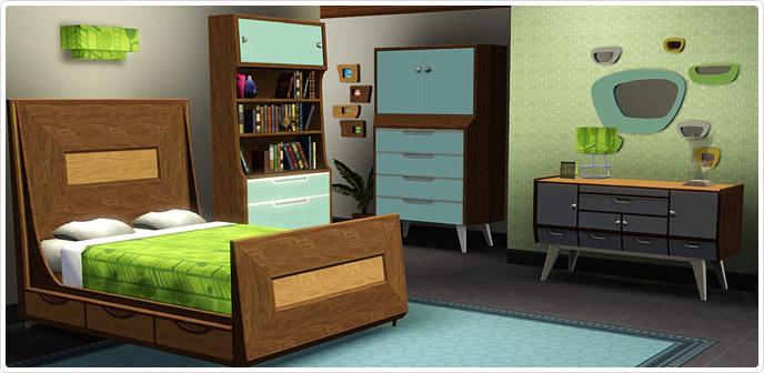 Jaren '50 Moderne Slaapkamer Collectie  Sims3 xD  Sims News